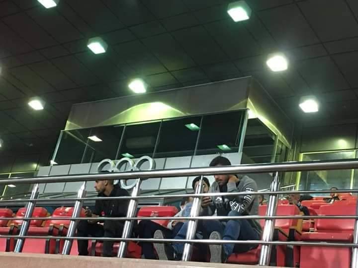 صور..ثلاثي الأهلي يدعم الفريق أمام المقاولون