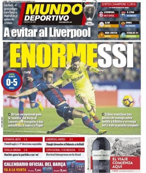 صحيفة موندو ديبورتيفو الإسبانية
