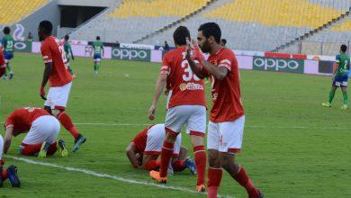 صورة جيرالدو بديلا لحسين الشحات في مباراة الأهلي ضد بيراميدز