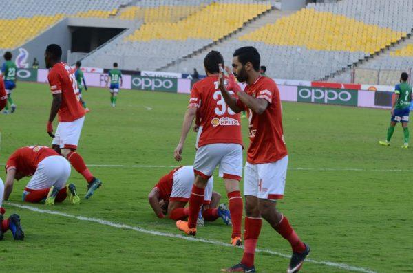 الأهلي ضد المقاصة حسين الشحات