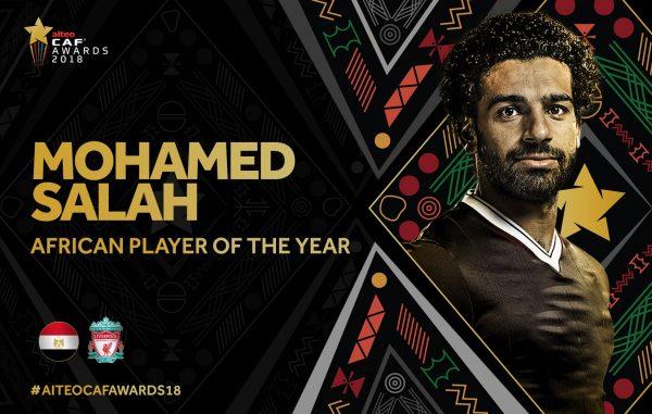 محمد صلاح أفضل لاعب في إفريقيا 2018