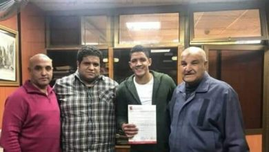 صورة الأهلي يتعاقد رسميا مع إسلام جابر مدافع الألومنيوم