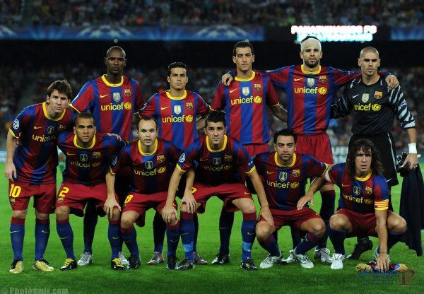 مشاهدة مباراة برشلونة وأولمبيك ليون بث مباشر