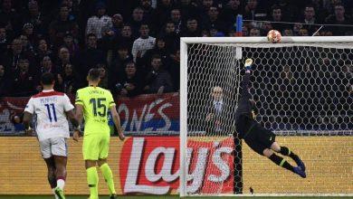 برشلونة ضد أولمبيك ليون