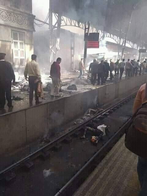 فيديو وصور حريق محطة مصر في حادث رمسيس اليوم