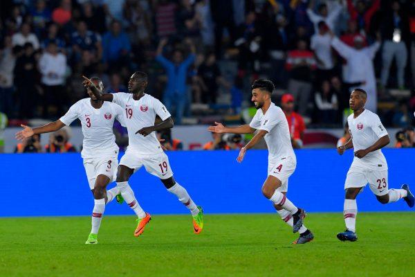 الهدف الأول لمنتخب قطر ضد اليابان