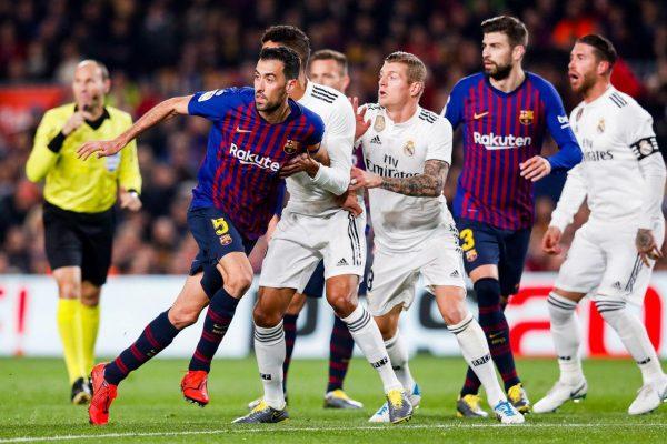 هدف تعادل برشلونة ضد ريال مدريد #كلاسيكو_الارض