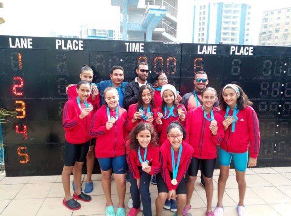فريق سباحة ناشئات طنطا 2007 يحتل المركز الثاني