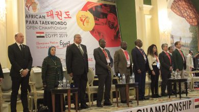 صورة الفولي وخطاب يفتتحان البطولة الأفريقية للباراتايكوندو بالغردقة
