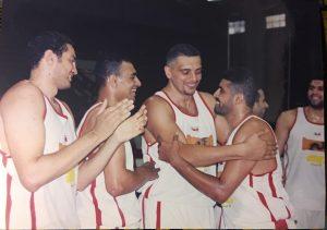 ياسر عبد الوهاب مع زملائه بفريق الزمالك