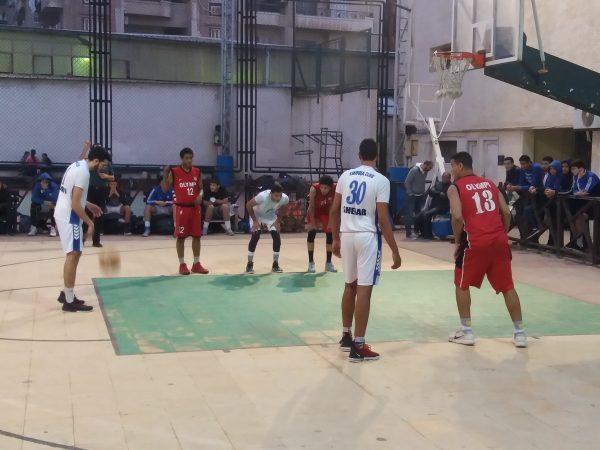 مباراة الاوليمبي و سموحة في بطولة الجمهورية تحت ١٨عام لكرة السلة