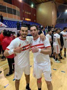 البوغنامي مع أحمد الأحمر قائد فريق الزمالك
