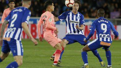 ملخص وأهداف مباراة برشلونة ضد ألافيس بالدوري الأسباني