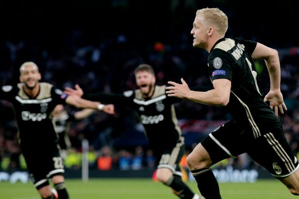 هدف أياكس ضد توتنهام في نصف نهائي دوري أبطال أوروبا