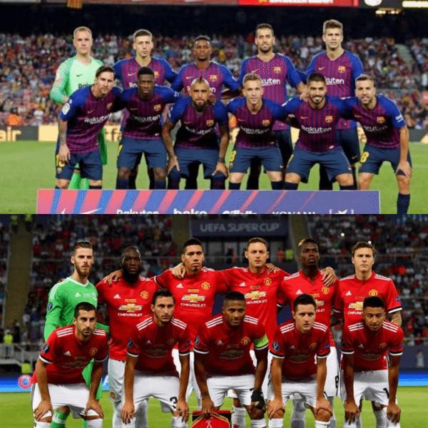 برشلونة ضد مانشستر يونايتد بدوري الأبطال.. تشكيل الفريقين
