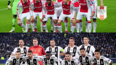 أياكس ضد يوفنتوس.. تشكيل الفريقين في دوري ابطال اوروبا