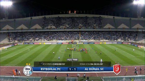 شاهد ملخص وأهداف مباراة الدحيل واستقلال طهران