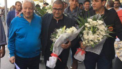 Photo of مرتضى منصور يستقبل بعثة نهضة بركان بمطار القاهرة