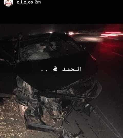نجاة أحمد سيد زيزو لاعب الزمالك من حادث سير