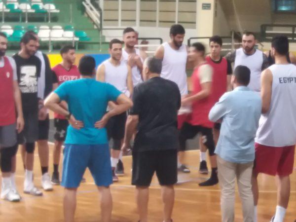 تدريبات منتخب مصر لكرة السلة