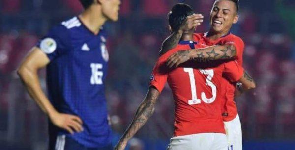 ملخص ونتيجة مباراة تشيلي ضد اليابان