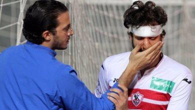 صورة إصابة محمود علاء في قمة الأهلي والزمالك
