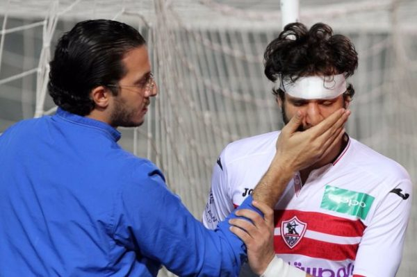 إصابة محمود علاء في قمة الأهلي والزمالك