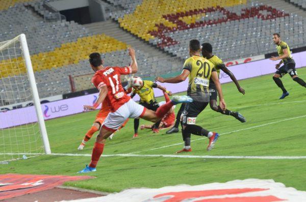 مباراة الأهلي والمقاولون.. معلول يضع الأحمر بالمقدمة بالشوط الأول