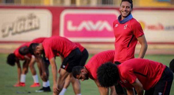 الأهلي ضد اطلع برة.. تدريبات بدنية للاعبي الأحمر