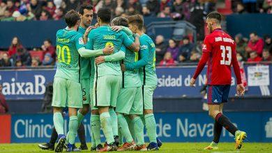 صورة تعرف على تشكيل مباراة برشلونة ضد أوساسونا