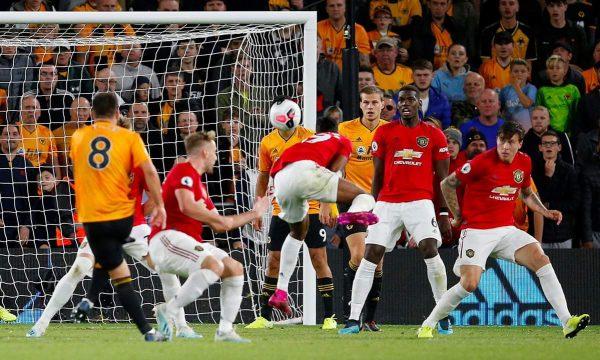 ملخص ونتيجة مباراة ولفرهامبتون ومانشستر يونايتد في الدوري الإنجليزي