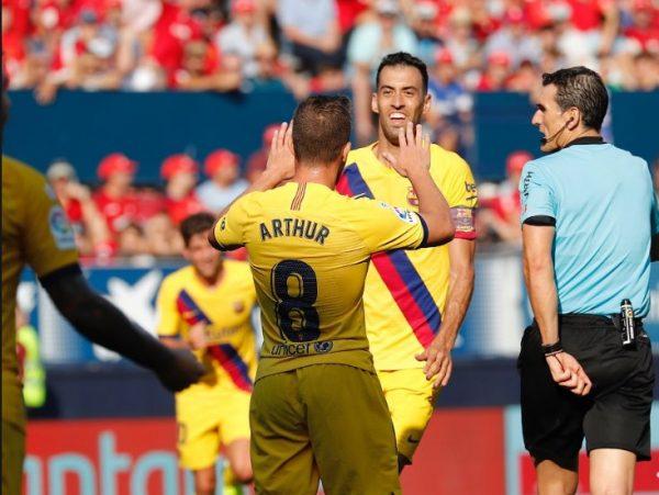 ترتيب الدوري الإسباني عقب تعادل برشلونة أمام أوساسونا