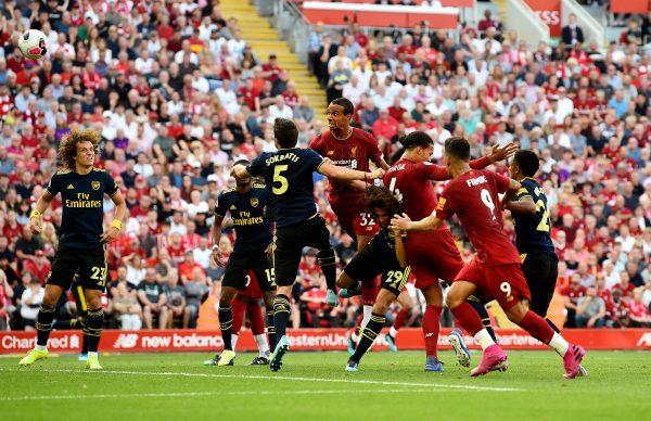 أهداف مباراة ليفربول وأرسنال اليوم بالدوري الإنجليزي