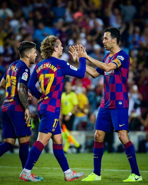 أهداف جريزمان اليوم مع برشلونة ضد ريال بيتيس