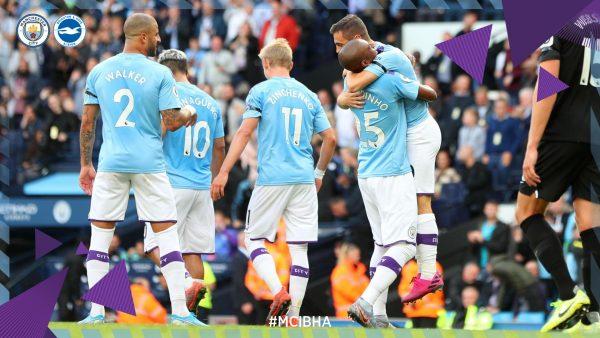 أهداف مباراة مانشستر سيتي وبرايتون اليوم 31-8-2019