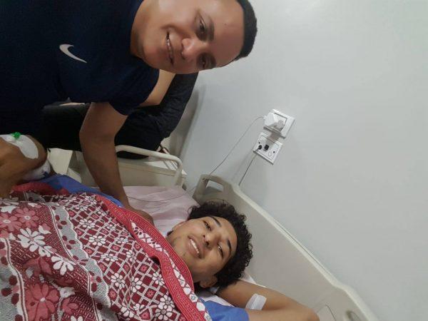 أحمد هاني لاعب طلائع الجيش يجري عملية جراحية ناجحة