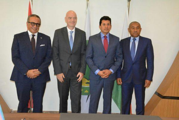 انفانتينو يستقبل عمرو الجنايني رئيس اتحاد الكرة المؤقت