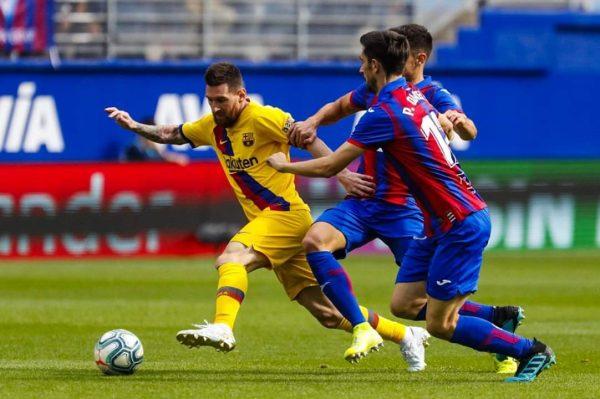 ملخص ونتيجة مباراة إيبار ضد برشلونة بالدوري الأسباني