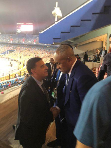 احمد احمد رئيس الكاف يصل حفل افتتاح امم أفريقيا 2019 تحت 23 سنة