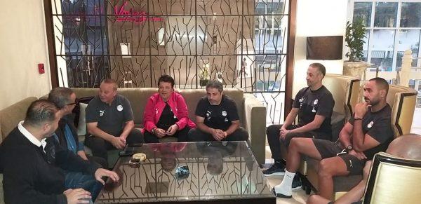 وزير الشباب والجنايني في معسكر المنتخب الأولمبي