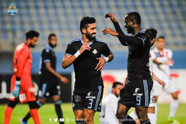 ملخص ونتيجة مباراة المصري ضد بيراميدز