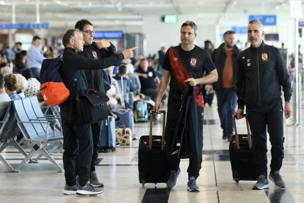فريق الأهلي يبدأ رحلة العودة إلى القاهرة