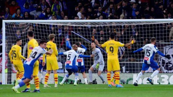نتيجة وأهداف مباراة برشلونة ضد اسبانيول
