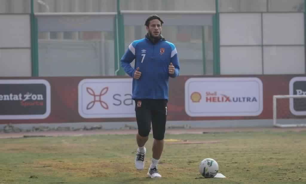 رمضان صبحي لاعب الأهلي يستكمل برنامجه التأهيلي