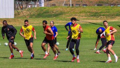 صورة مران بدني للاعبي الأهلي استعدادا لمواجهة صن داونز