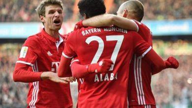 صورة نتيجة مباراة بايرن ميونيخ ضد إنتراخت فرانكفورت في الدوري الألماني