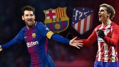 صورة التشكيل المتوقع لمباراة برشلونة ضد أتلتيكو مدريد