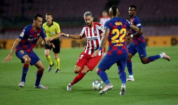 ملخص ونتيجة مباراة برشلونة ضد أتلتيكو مدريد في الدوري الإسباني