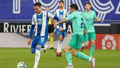 صورة أهداف مباراة ريال مدريد ضد إسبانيول في الدوري الاسباني