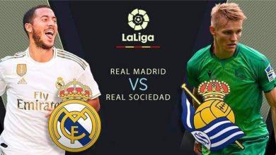 Photo of موعد مباراة ريال مدريد ضد ريال سوسيداد والقنوات الناقلة